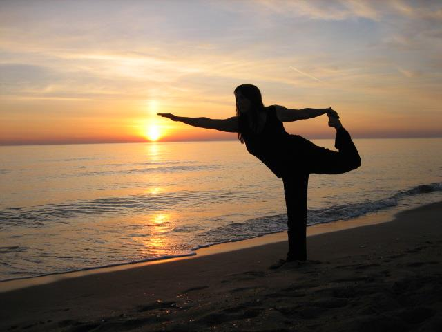 Yoga seaside